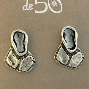 Uno de 50 Croco Tears Grey Crystal PEN0545 Earring